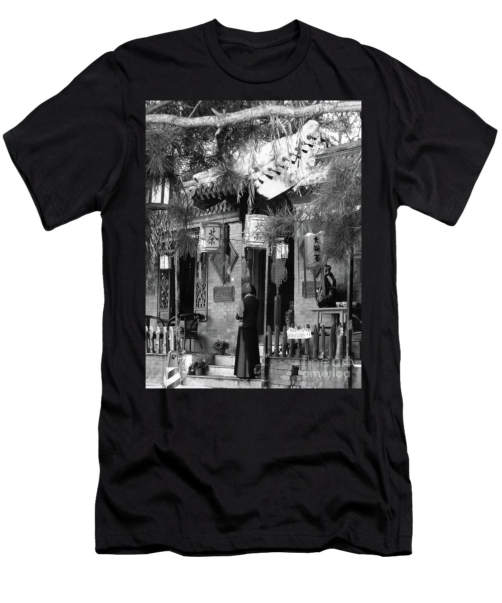 Beijing Men's T-Shirt (Athletic Fit) featuring the photograph Beijing City 5 by Xueling Zou