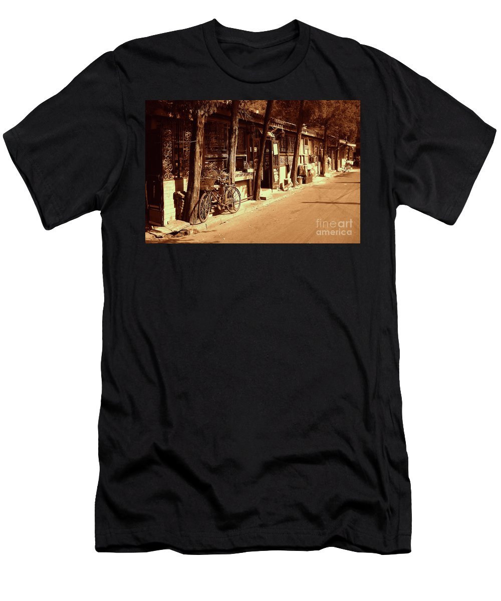 Occupy Beijing Men's T-Shirt (Athletic Fit) featuring the photograph Beijing City 8 by Xueling Zou