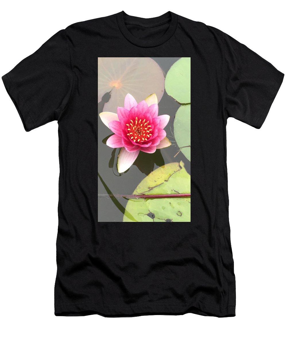 Lotus Men's T-Shirt (Athletic Fit) featuring the photograph Beijing Lotus by Jennifer Lambert