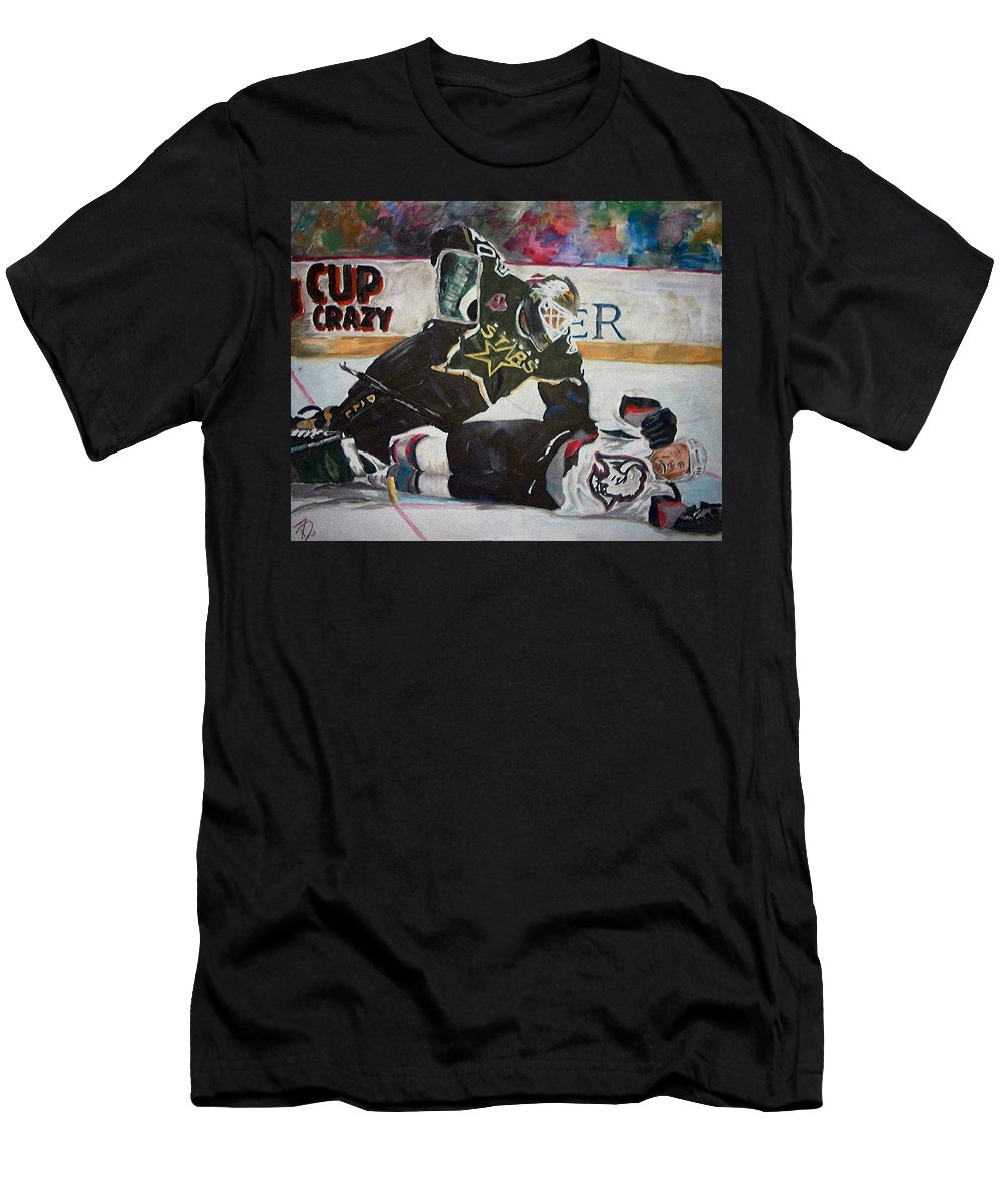 Belfour Men's T-Shirt (Athletic Fit) featuring the painting Belfour by Travis Day