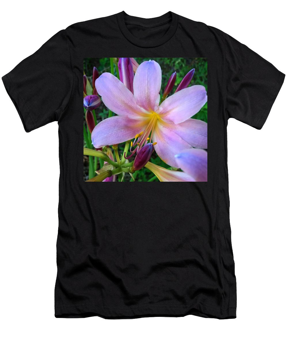 Amaryllis Men's T-Shirt (Athletic Fit) featuring the photograph Belladonna Beauty by Alecia Nelson