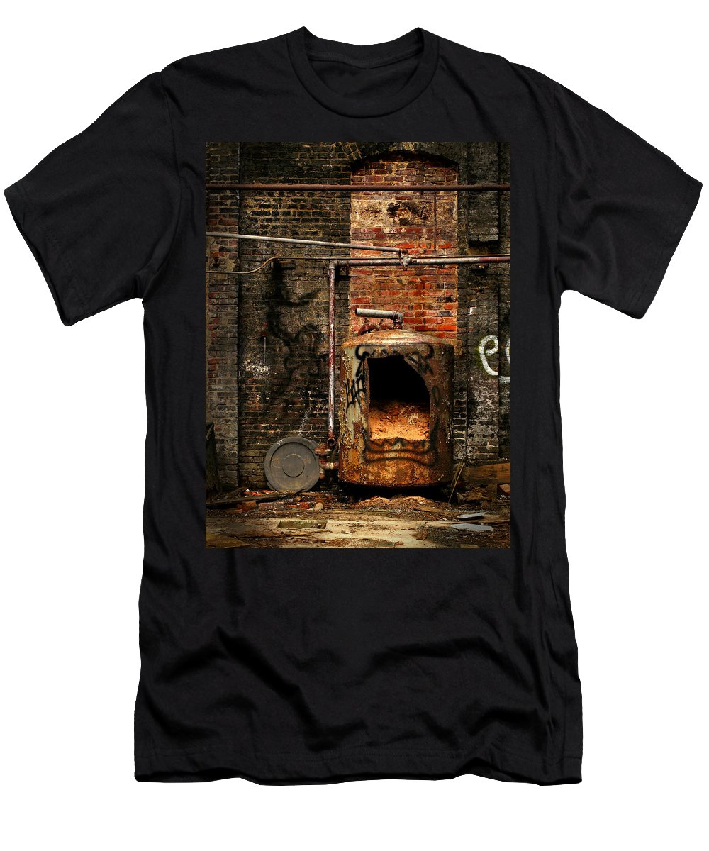 Factory Men's T-Shirt (Athletic Fit) featuring the photograph Belly Of The Beast by J K York