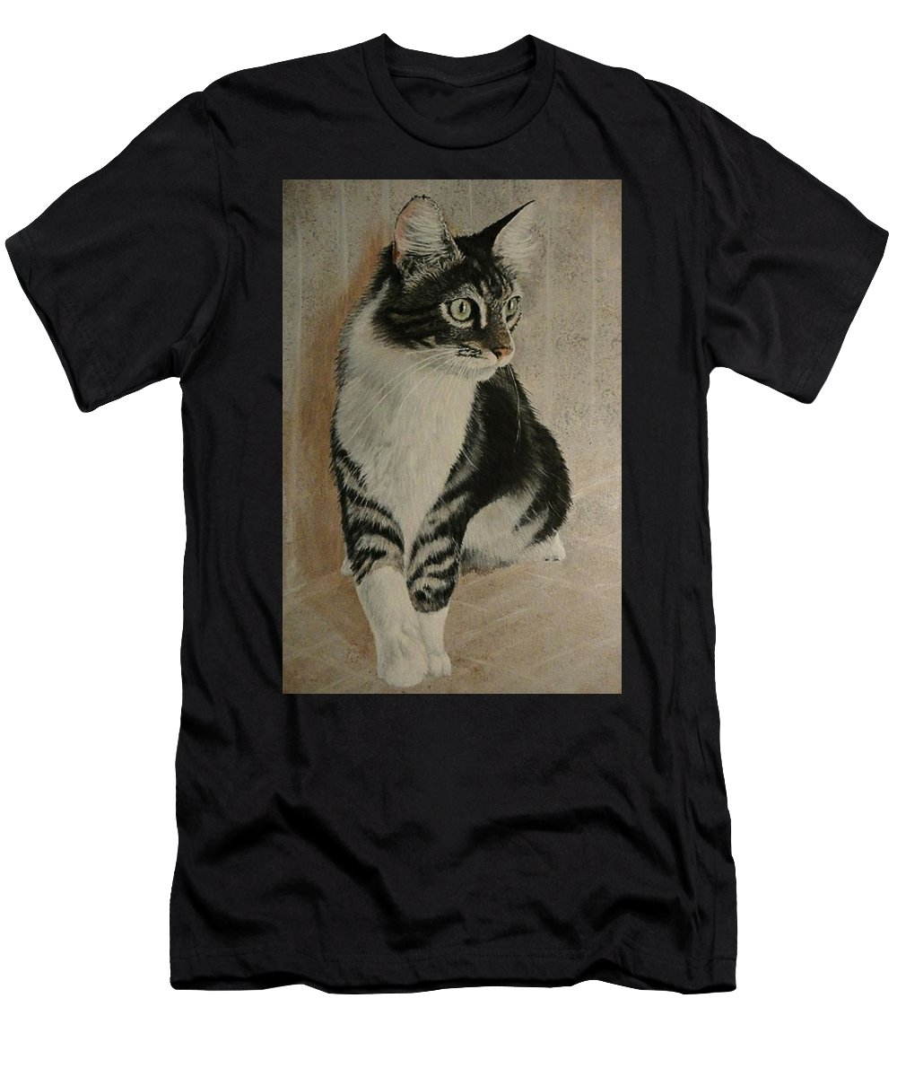 Painting Men's T-Shirt (Athletic Fit) featuring the painting Beloved Friend by Sheryl Gallant