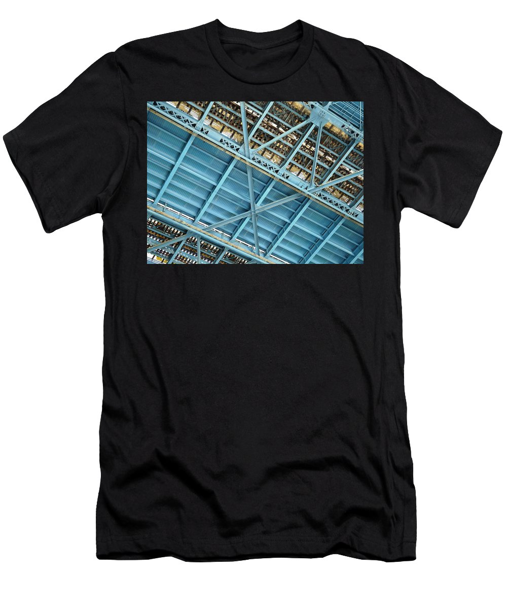 New York Men's T-Shirt (Athletic Fit) featuring the photograph Below The Bridge by Valerie Ornstein