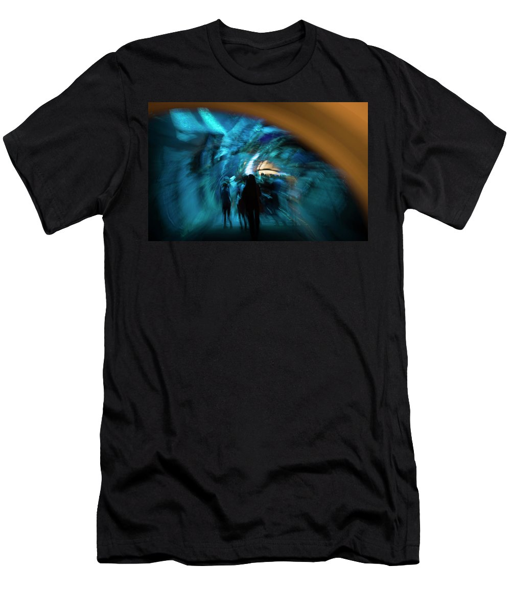 Beneath Men's T-Shirt (Athletic Fit) featuring the photograph Beneath And Beyond by Alex Lapidus