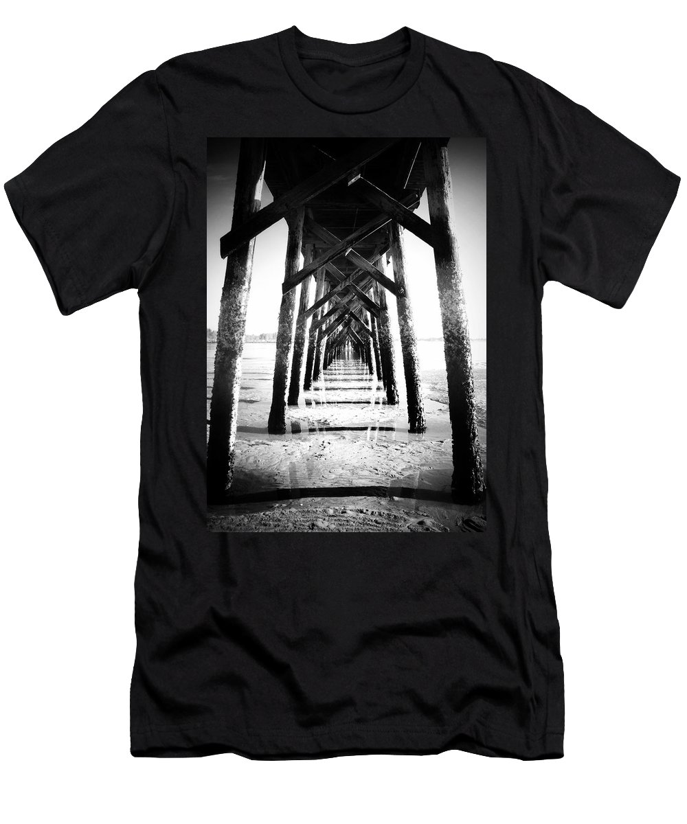Pier Men's T-Shirt (Athletic Fit) featuring the photograph Beneath The Pier by Tara Turner