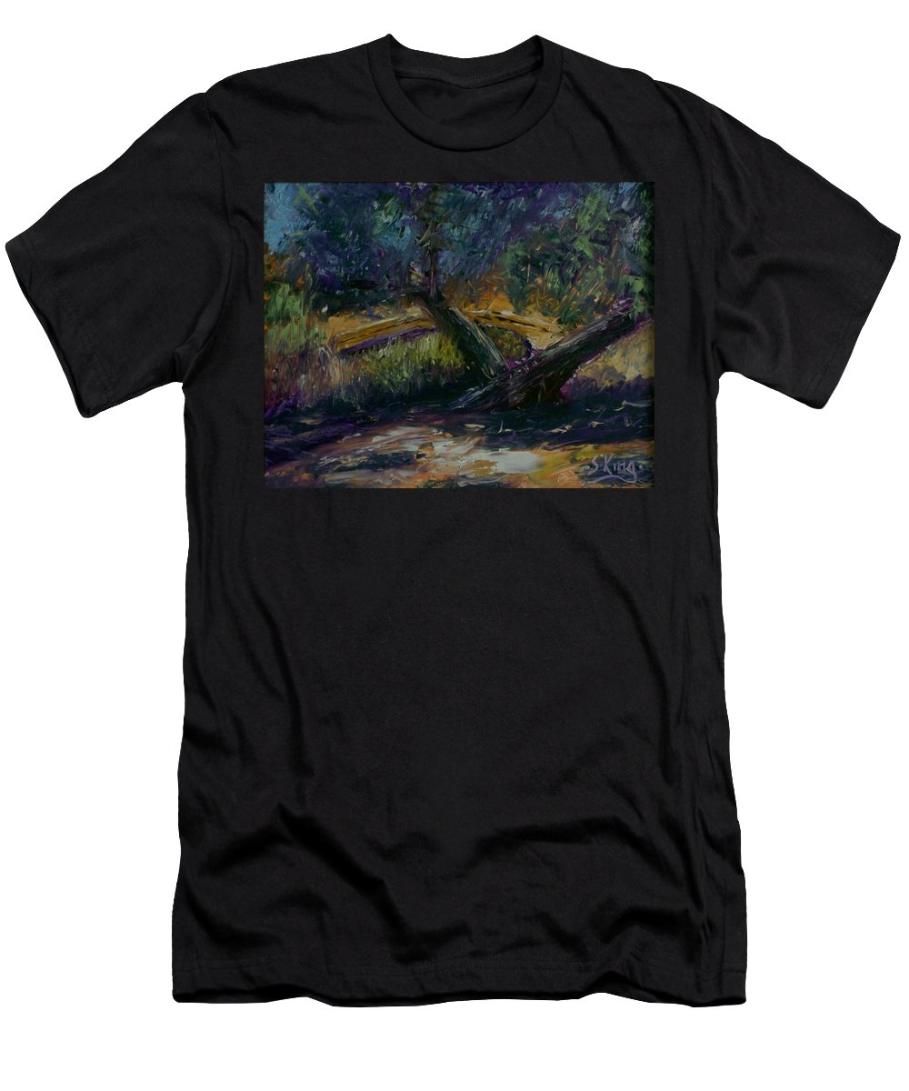 Landscape Men's T-Shirt (Athletic Fit) featuring the painting Bent Tree by Stephen King