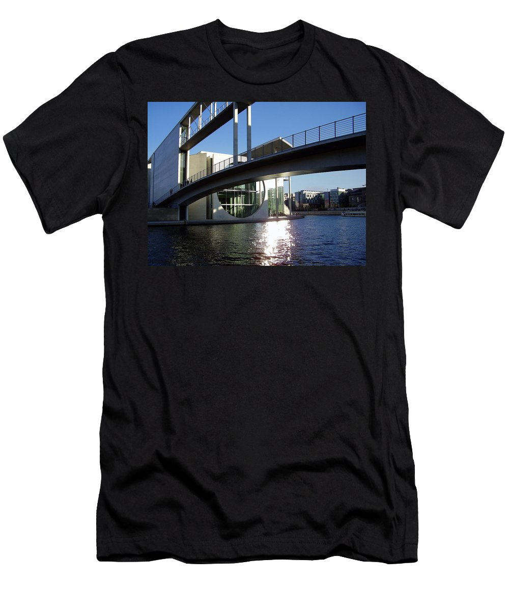 Marie-elisabeth-lueders Men's T-Shirt (Athletic Fit) featuring the photograph Berlin by Flavia Westerwelle