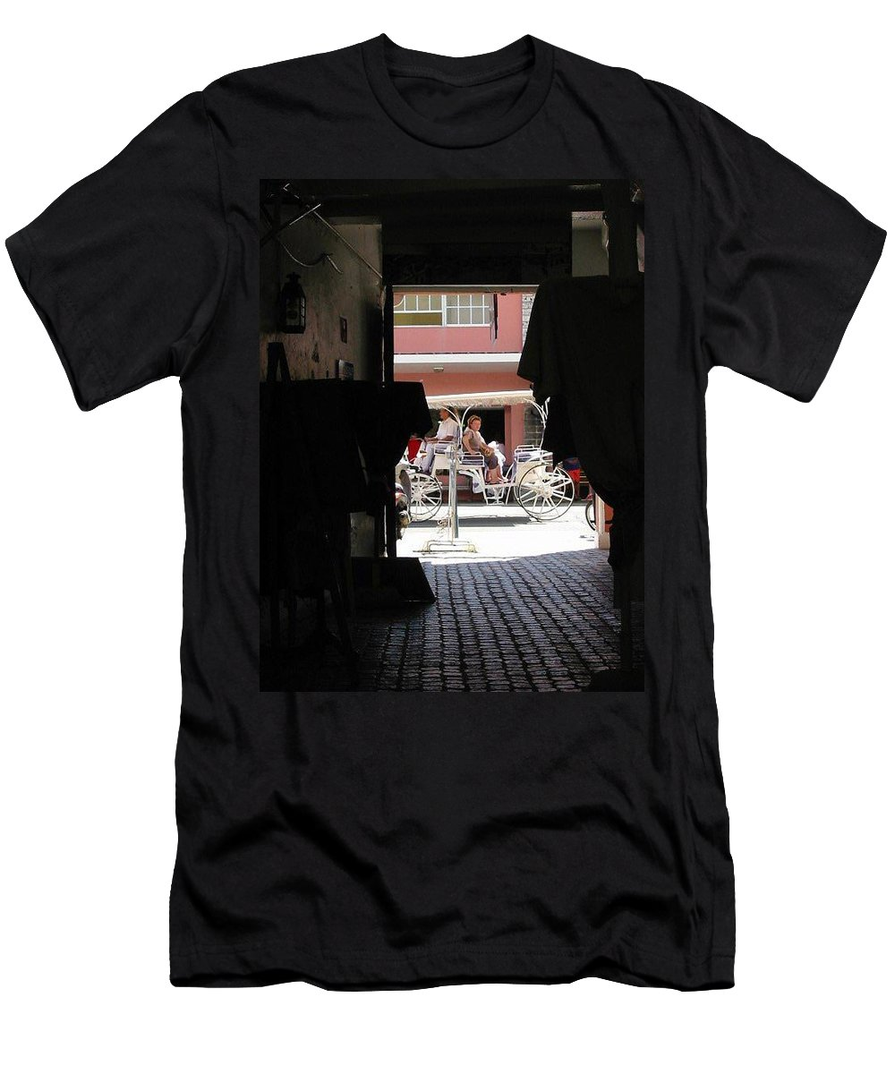 Bermuda Men's T-Shirt (Athletic Fit) featuring the photograph Bermuda Carriage by Ian MacDonald