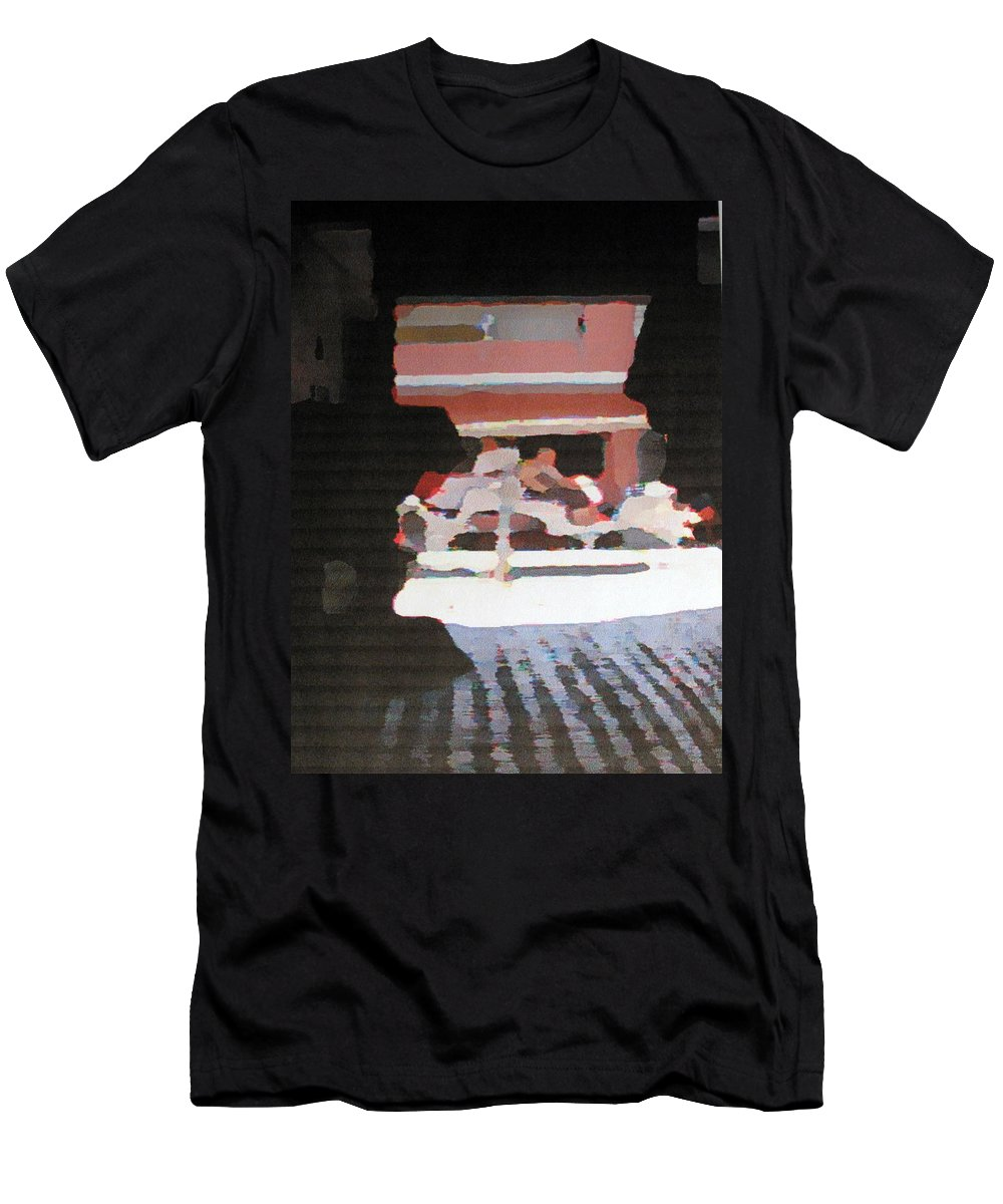 Bermuda Men's T-Shirt (Athletic Fit) featuring the photograph Bermuda Carriage Impressions by Ian MacDonald