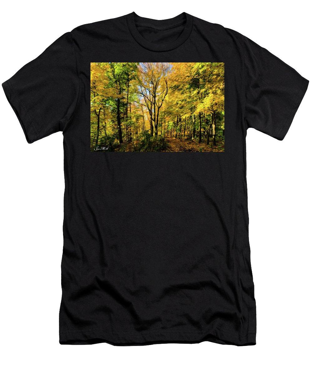 Pennsylvania Men's T-Shirt (Athletic Fit) featuring the photograph Bernharts Dam 15-221 by Scott McAllister