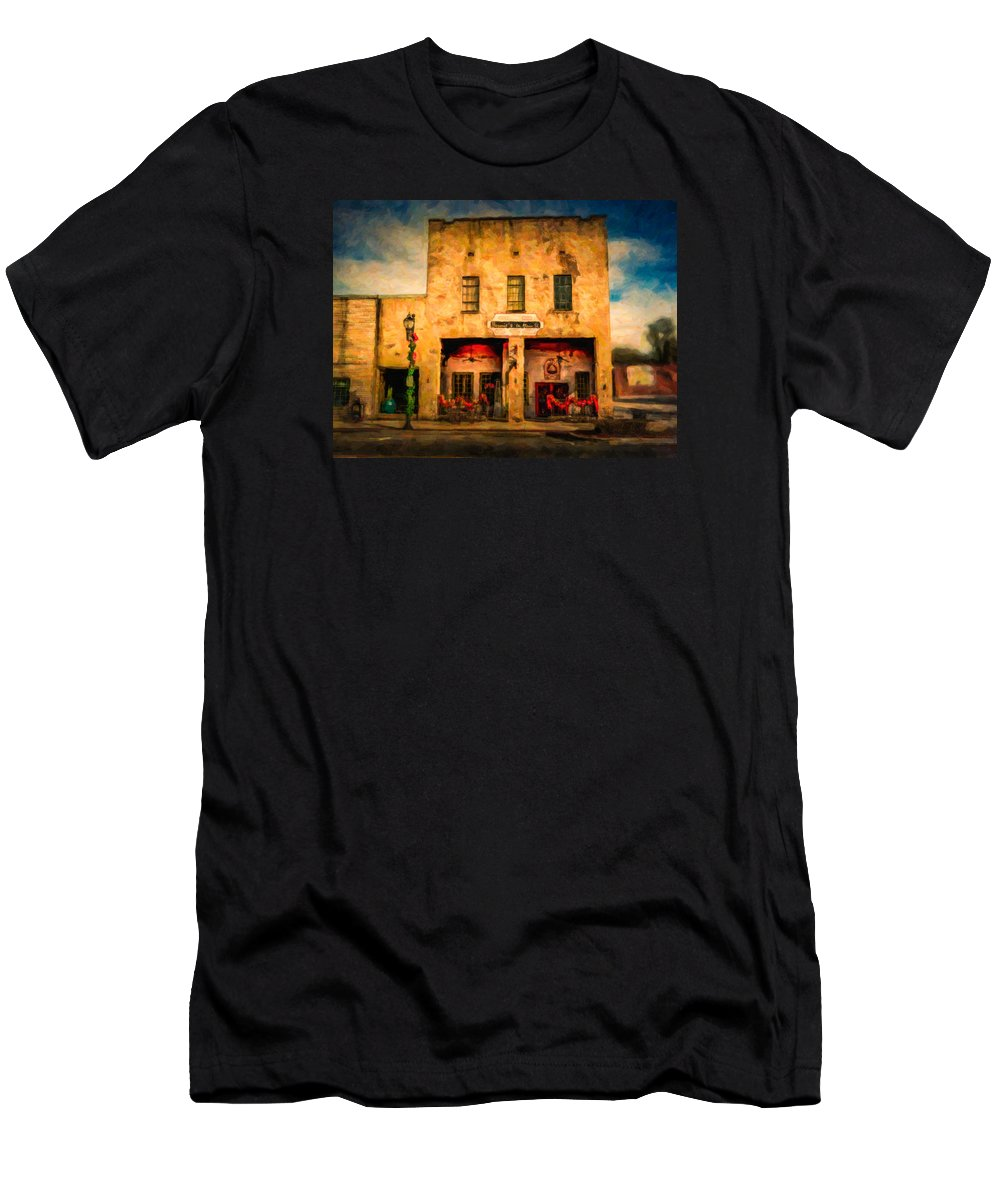 Bernie's Restaurant Men's T-Shirt (Athletic Fit) featuring the photograph Bernie's by Phillip Burrow