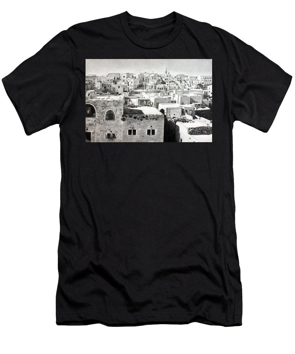 Bethlehem Men's T-Shirt (Athletic Fit) featuring the photograph Bethlehem Old Town by Munir Alawi