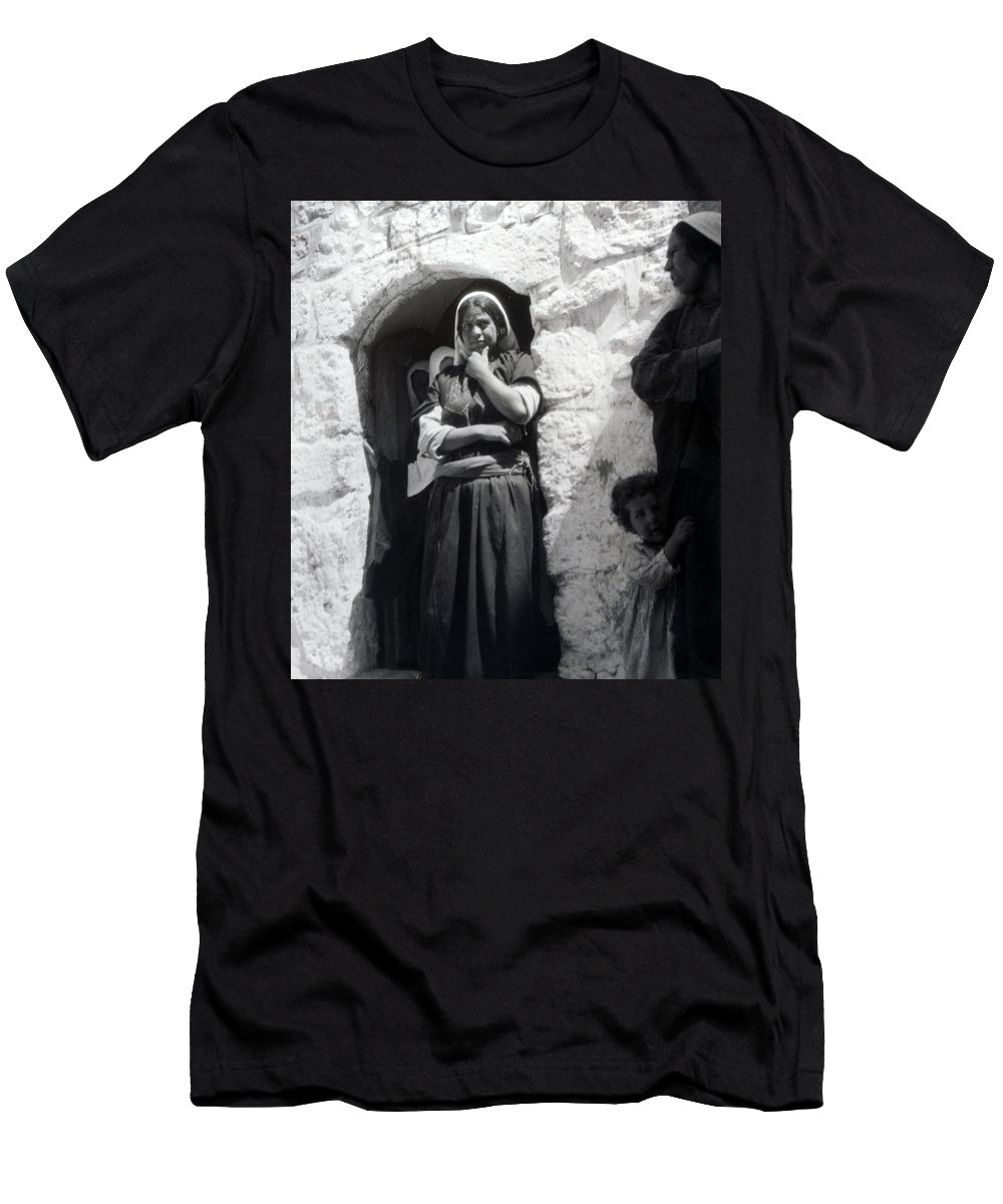 1900s Men's T-Shirt (Athletic Fit) featuring the photograph Bethlehemites Women 1900s by Munir Alawi