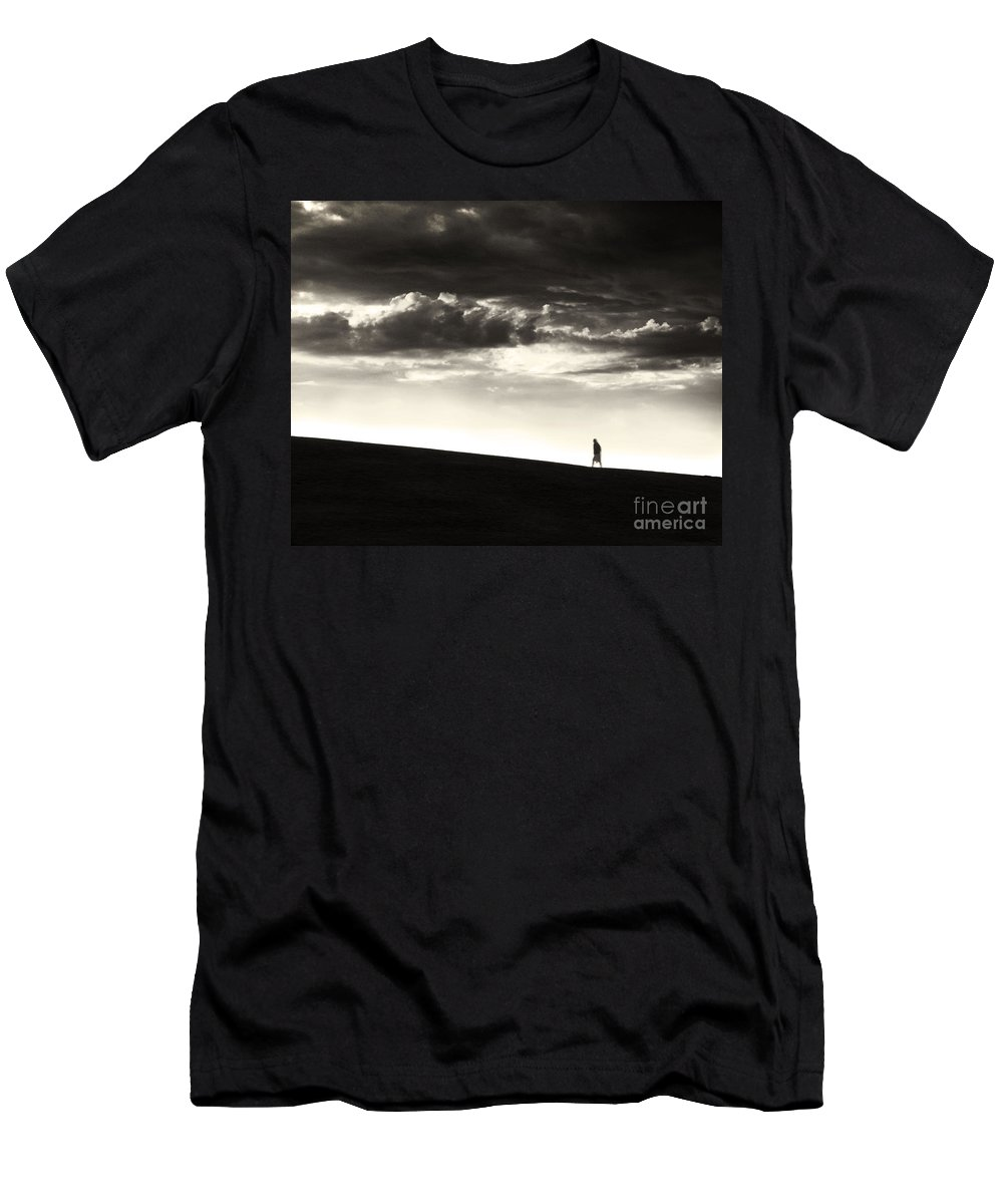 Man Men's T-Shirt (Athletic Fit) featuring the photograph Between Living And Dying by Dana DiPasquale