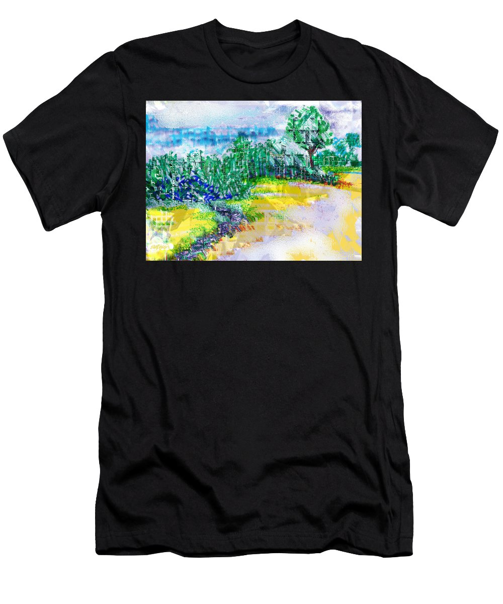 Beyond The Clouds Men's T-Shirt (Athletic Fit) featuring the drawing Beyond The Clouds by Seth Weaver