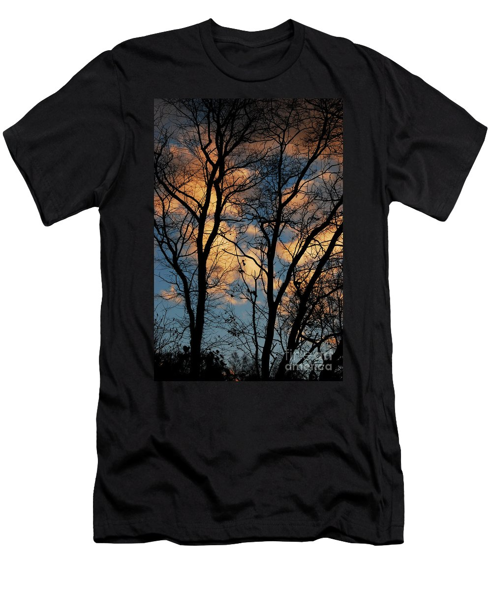 Landscape Men's T-Shirt (Athletic Fit) featuring the photograph Beyond The Trees by Lori Tambakis