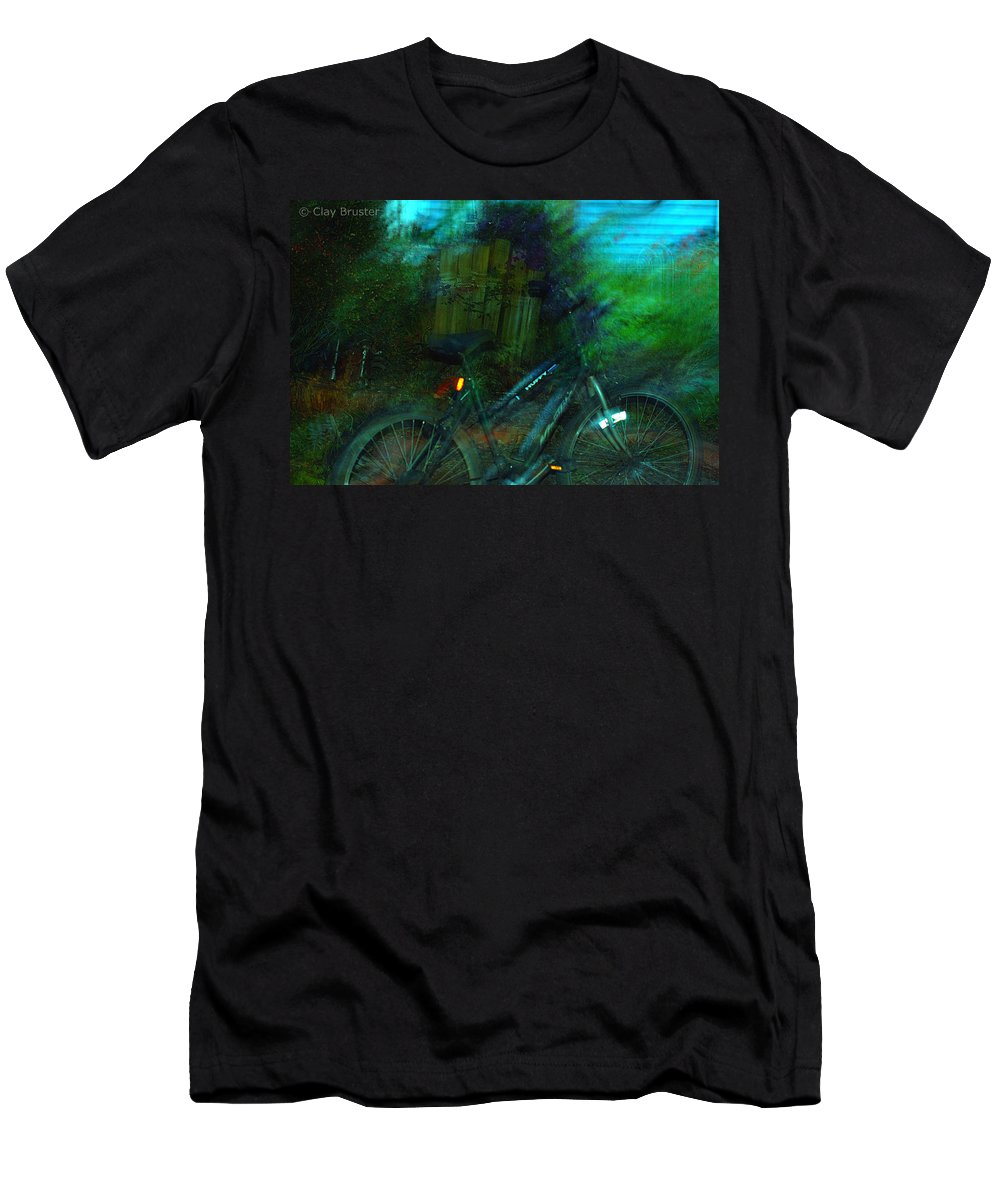 Clay Men's T-Shirt (Athletic Fit) featuring the photograph Bicycle by Clayton Bruster