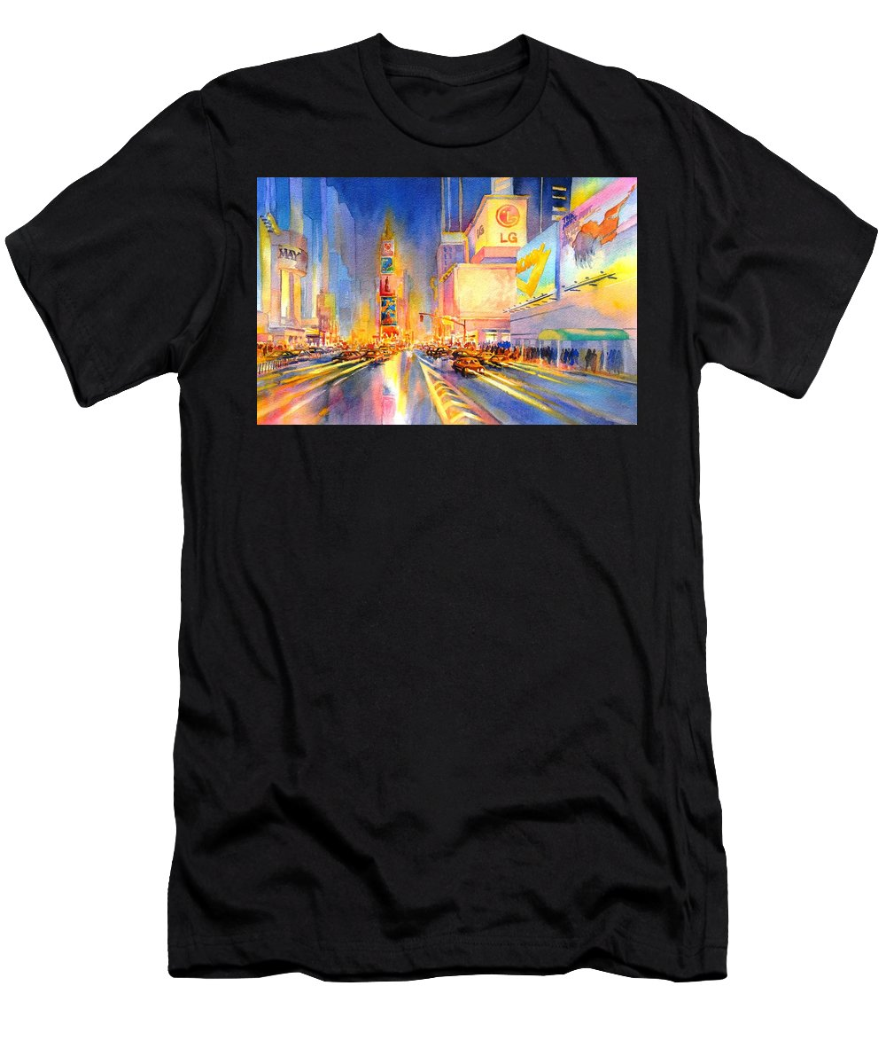 Watercolor T-Shirt featuring the painting Big Apple Evening, No. 2 by Virgil Carter
