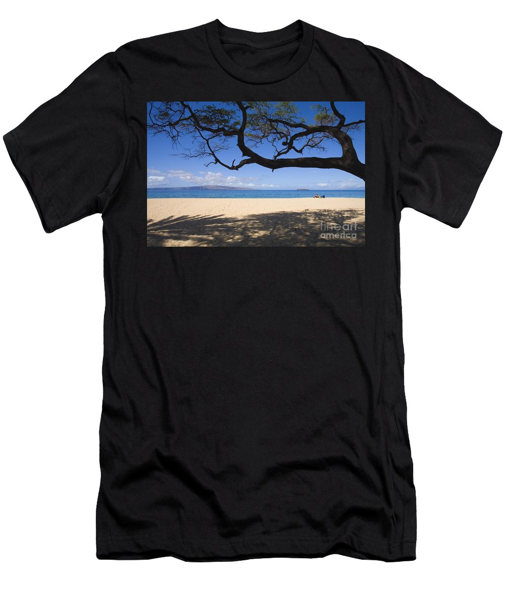 Beach Men's T-Shirt (Athletic Fit) featuring the photograph Big Beach by Ron Dahlquist - Printscapes