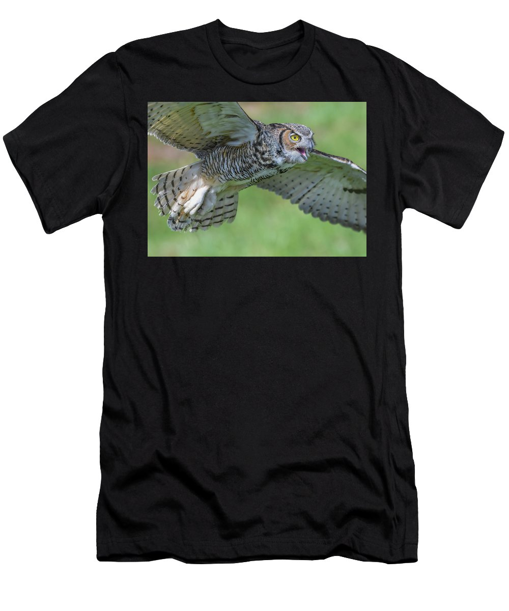 Owl Men's T-Shirt (Athletic Fit) featuring the photograph Big Eyes... by Ian Sempowski