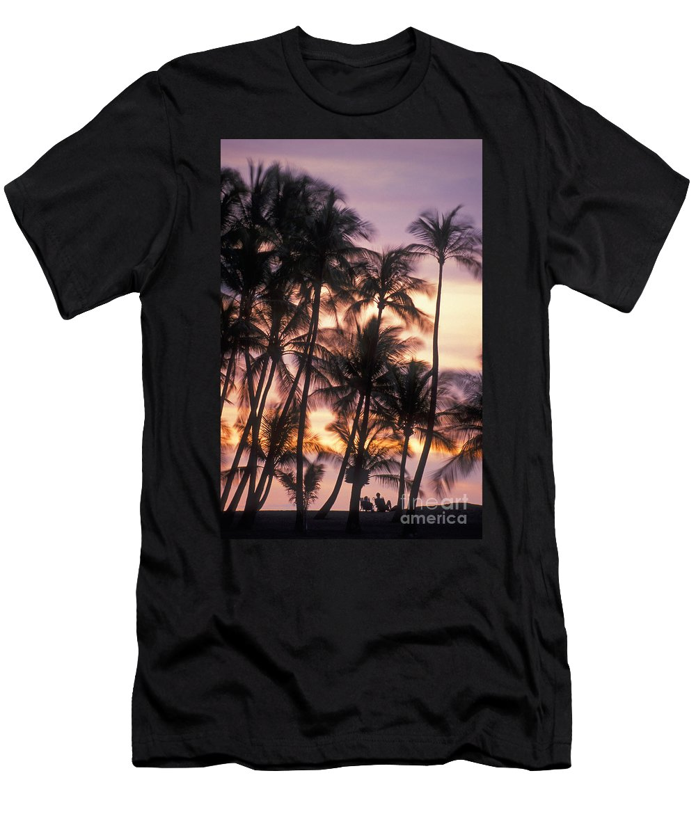 Anaehoomalu Men's T-Shirt (Athletic Fit) featuring the photograph Big Island Palms by Greg Vaughn - Printscapes