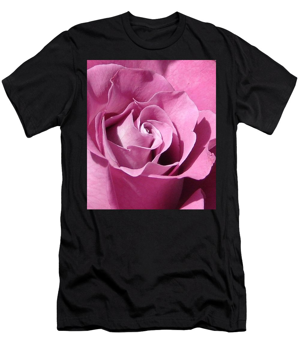 Rose Pink Men's T-Shirt (Athletic Fit) featuring the photograph Big Pink by Luciana Seymour