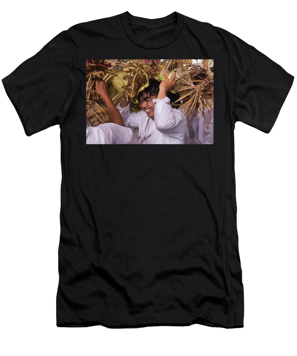 Bali Men's T-Shirt (Athletic Fit) featuring the photograph Big Smile From Bali by Sulendra Wayan