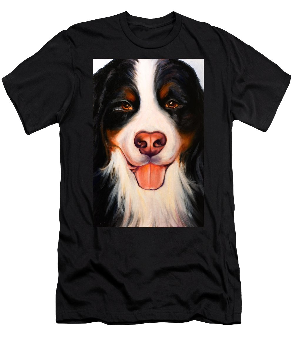 Dog T-Shirt featuring the painting Big Willie by Shannon Grissom