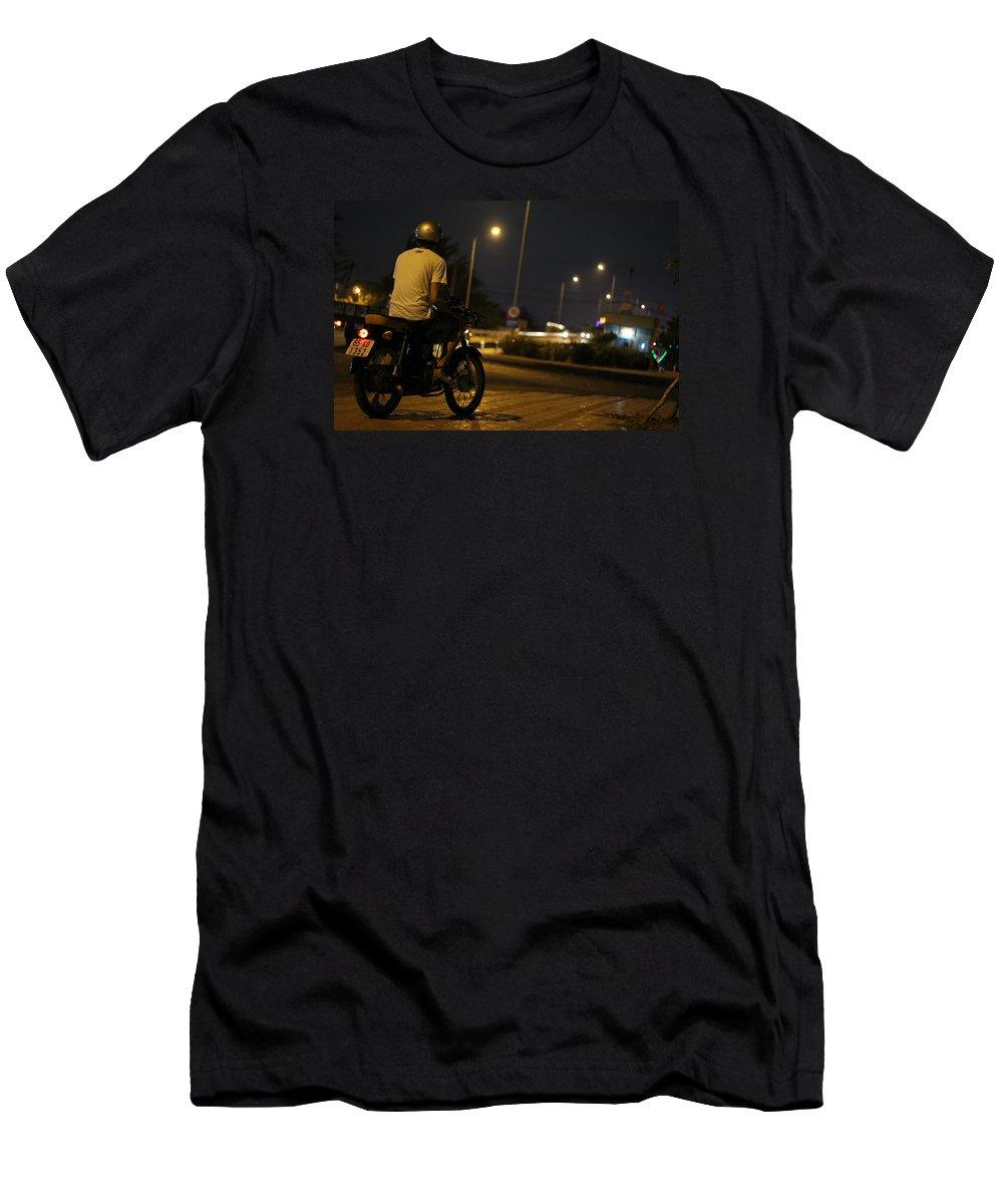 Biker Men's T-Shirt (Athletic Fit) featuring the photograph Biker by Tin Tran
