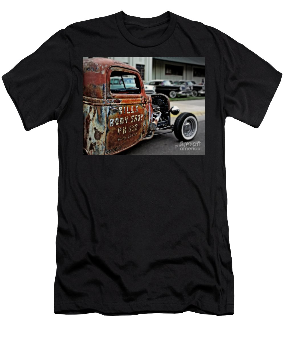 Rat Rod Men's T-Shirt (Athletic Fit) featuring the photograph Bill's Rat Rod by Perry Webster