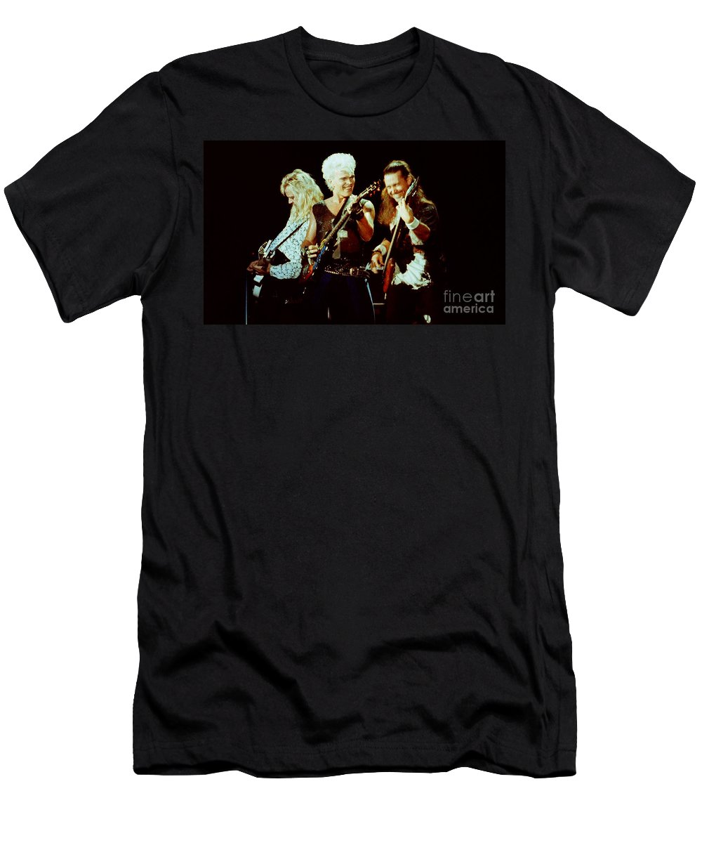 Billy Idol Men's T-Shirt (Athletic Fit) featuring the photograph Billy Idol 90-2294 by Gary Gingrich Galleries