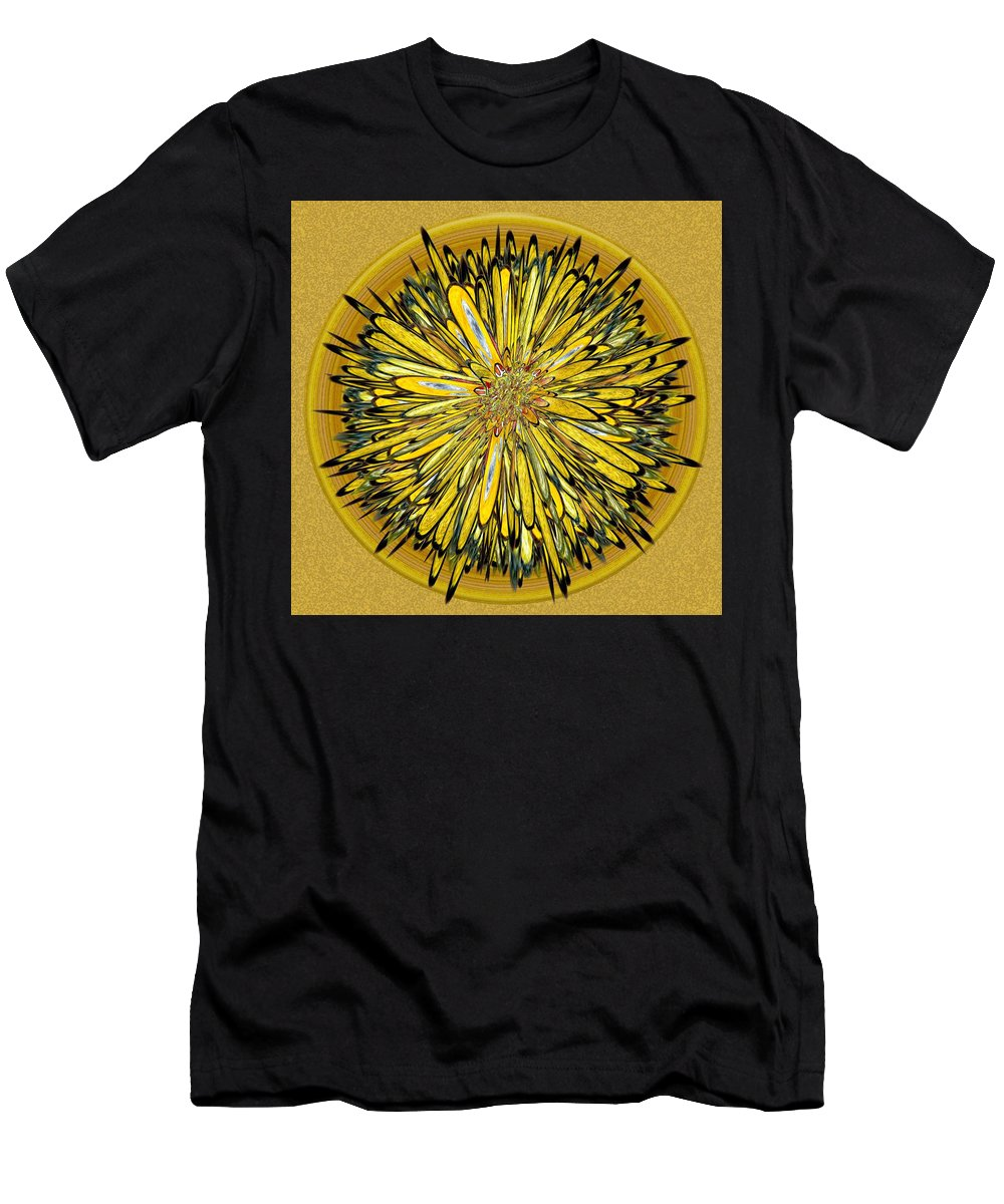 Abstract Men's T-Shirt (Athletic Fit) featuring the digital art Billy Jean -- Floral Disk by Mark Sellers