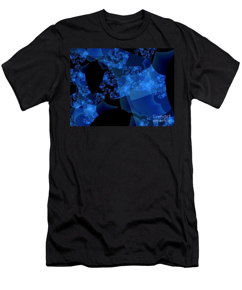 Fractal Art T-Shirt featuring the digital art Bioluminescence by Ron Bissett