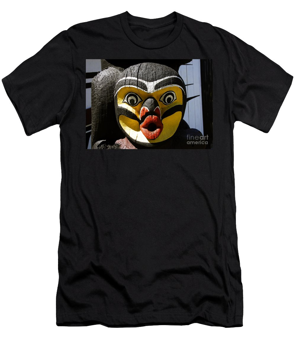 Totem Men's T-Shirt (Athletic Fit) featuring the photograph Bird Man by David Lee Thompson
