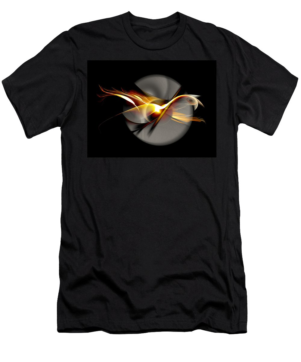 Bird Men's T-Shirt (Athletic Fit) featuring the digital art Bird Of Passage by Aniko Hencz