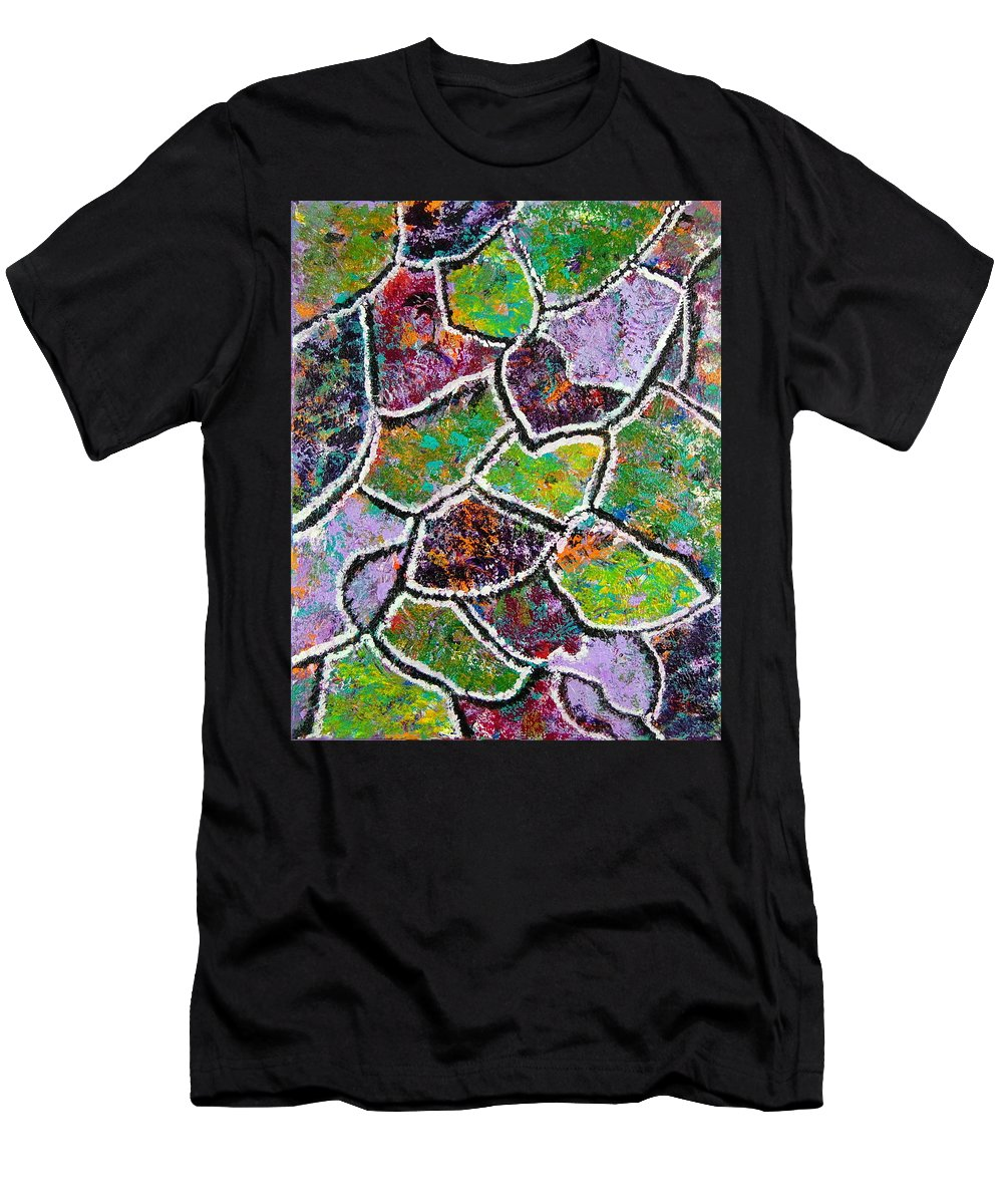 Abstract Men's T-Shirt (Athletic Fit) featuring the painting Bird's Eye View by Rita Lulay Malsch