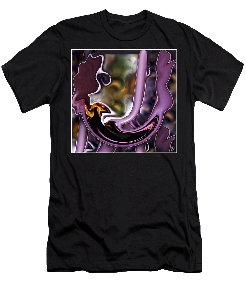 Abstract Men's T-Shirt (Athletic Fit) featuring the photograph Birth Of The Phoenix Abstract by Wayne King