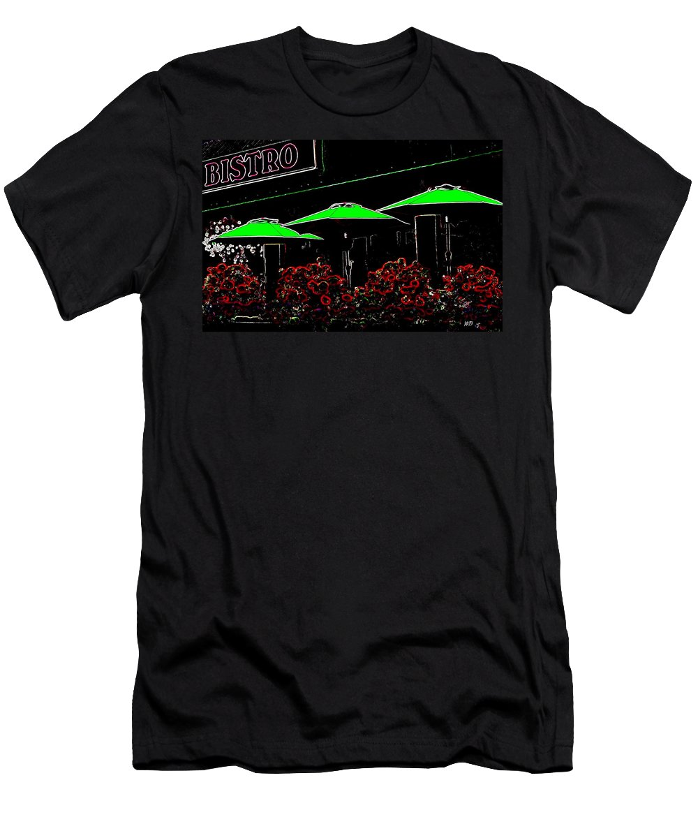 Abstract Men's T-Shirt (Athletic Fit) featuring the digital art Bistro by Will Borden