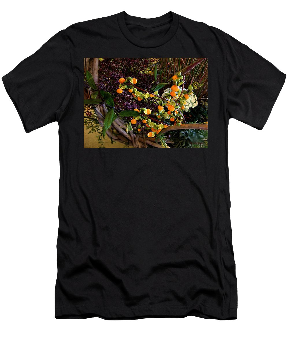 Basket Men's T-Shirt (Athletic Fit) featuring the painting Bittersweet Basket by RC DeWinter
