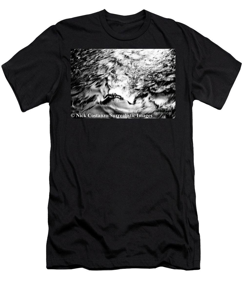 Fine Art Photography Men's T-Shirt (Athletic Fit) featuring the photograph Black And Silver by Nicholas Costanzo