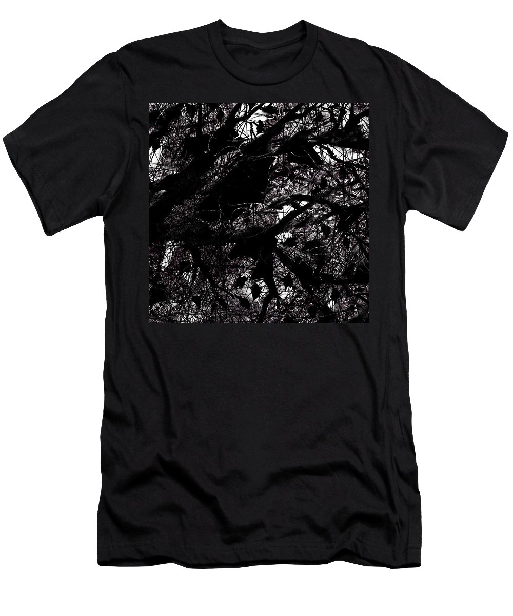 Abstract Men's T-Shirt (Athletic Fit) featuring the digital art Black And White by Rachel Christine Nowicki