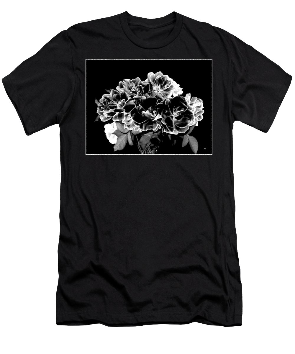 Roses Men's T-Shirt (Athletic Fit) featuring the digital art Black And White Roses by Will Borden