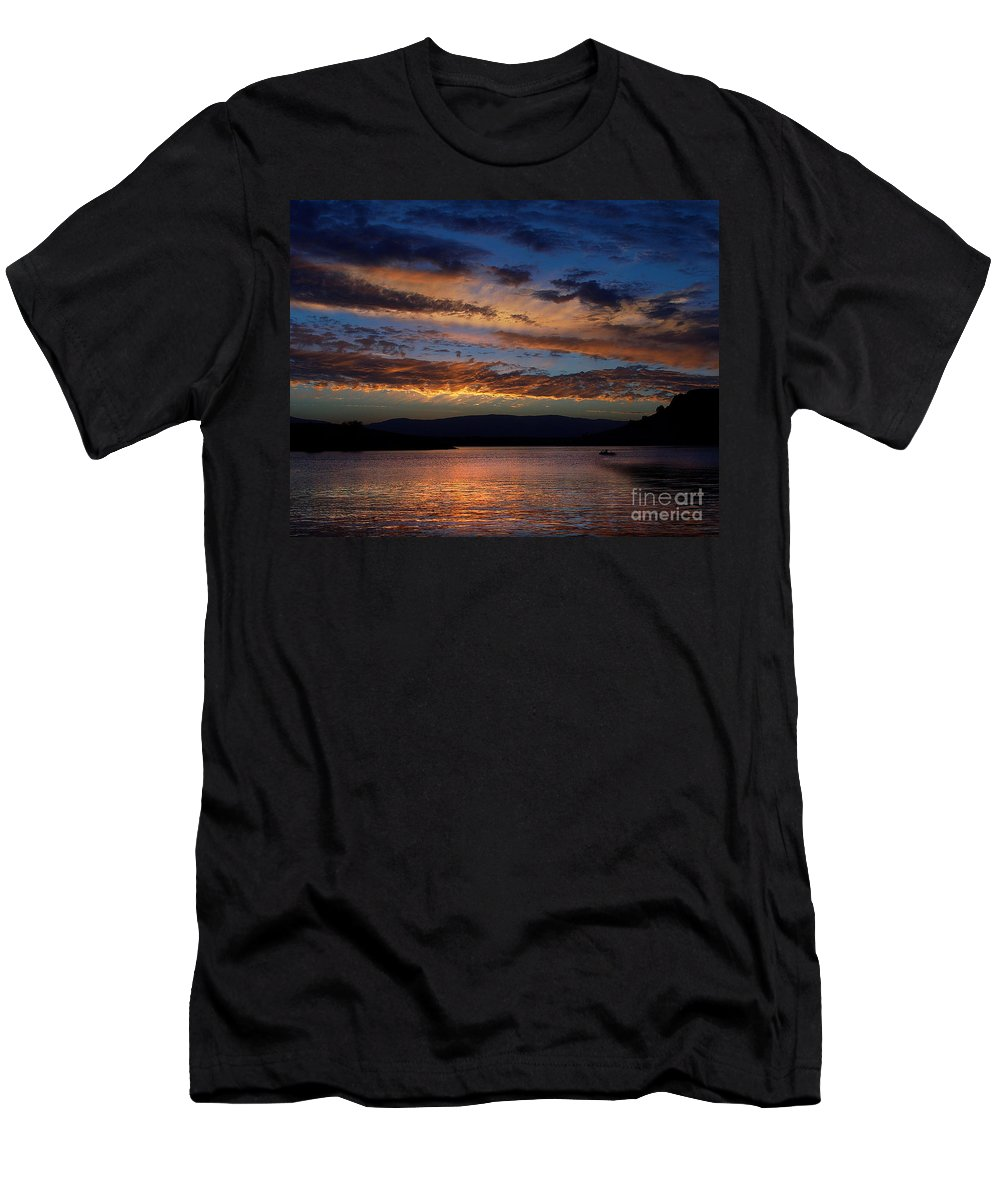 Black Butte Sunset Men's T-Shirt (Athletic Fit) featuring the photograph Black Butte Sunset by Peter Piatt