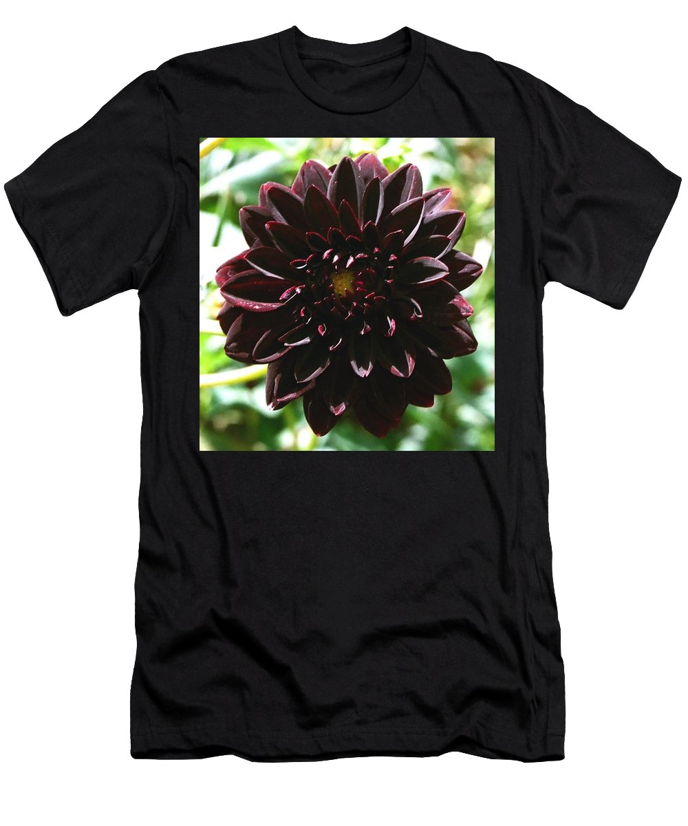 Flower Men's T-Shirt (Athletic Fit) featuring the photograph Black Dalia by Dean Triolo