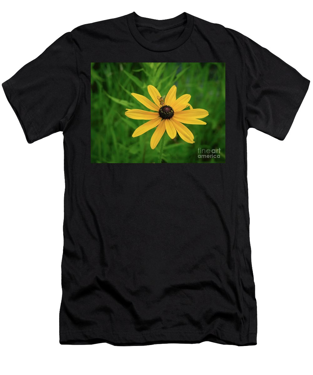 Blackeyed Susan Men's T-Shirt (Athletic Fit) featuring the photograph Black Eyed Susan And Friends by Teresa A and Preston S Cole Photography