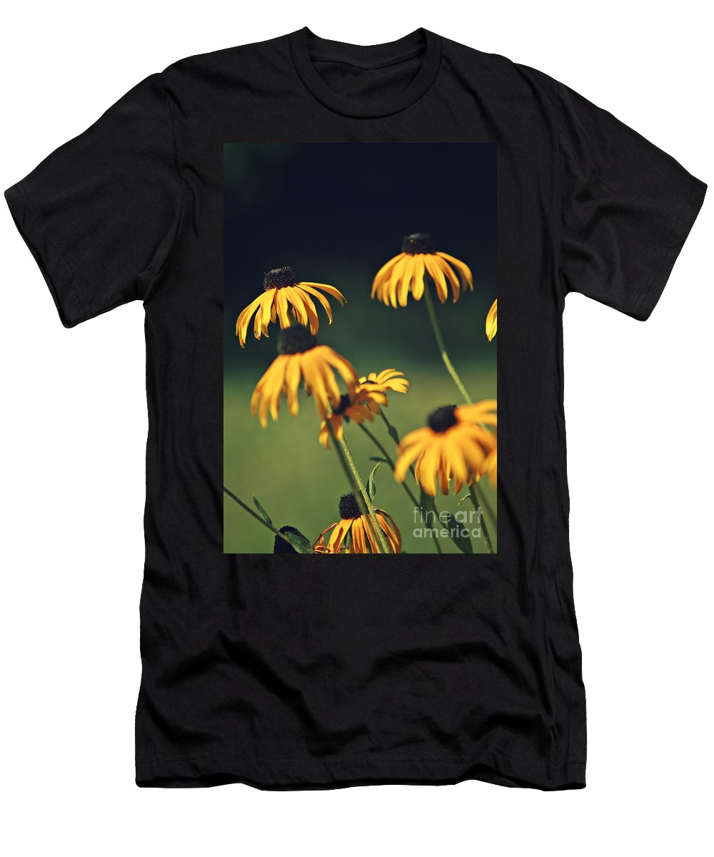 Flower Men's T-Shirt (Athletic Fit) featuring the photograph Black Eyed Susan by Dan Radi