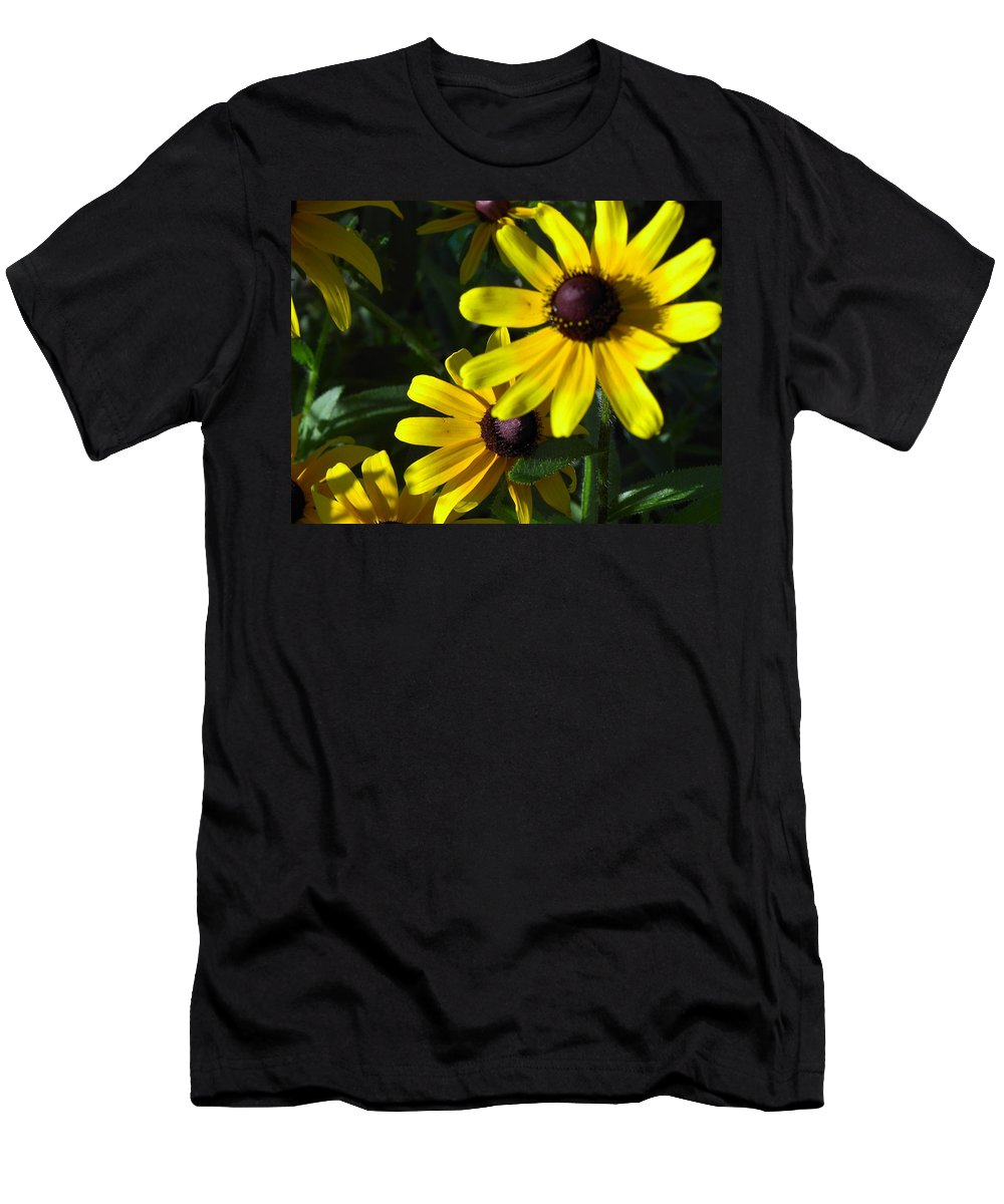 Charity Men's T-Shirt (Athletic Fit) featuring the photograph Black Eyed Susan by Mary-Lee Sanders