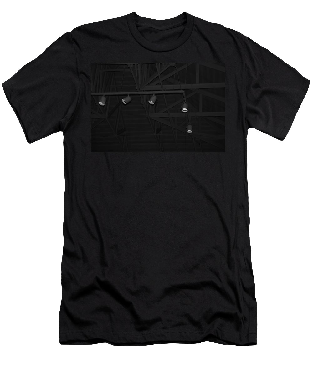Black And White Men's T-Shirt (Athletic Fit) featuring the photograph Black Lights by Rob Hans