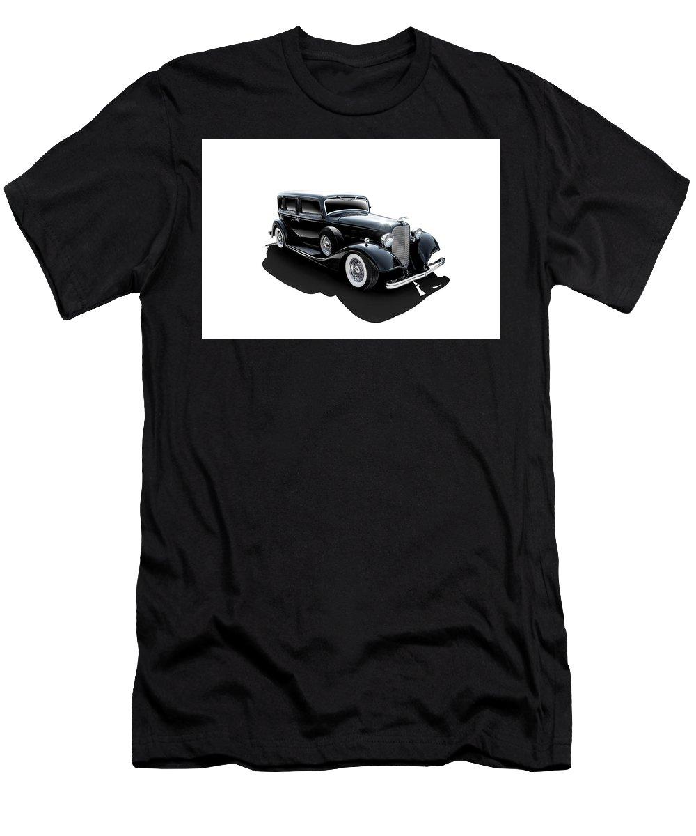 Transportation Men's T-Shirt (Athletic Fit) featuring the digital art Black Tie Affair by Douglas Pittman
